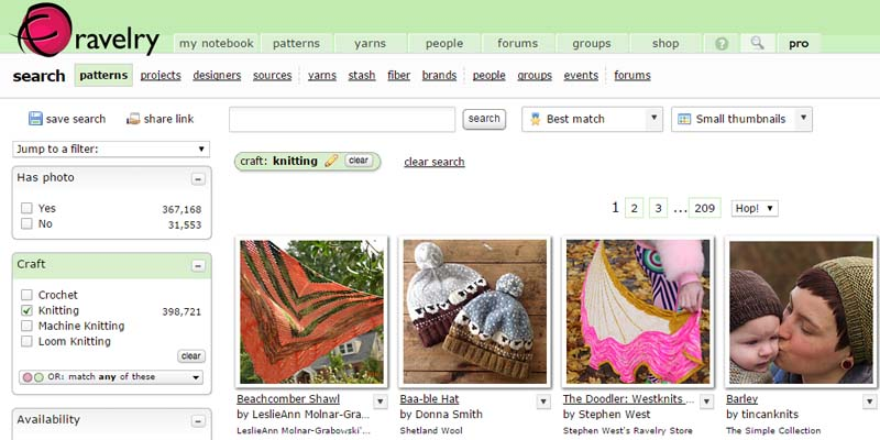 Ravelry Search